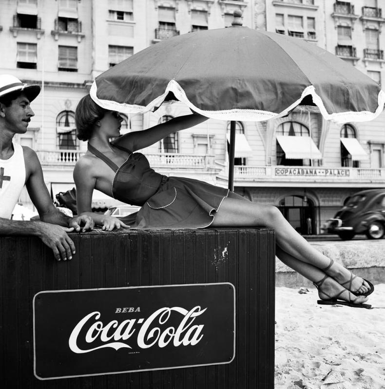 Шелаг Уилсон, пляж Копакабана, Рио-де-Жанейро, 1951